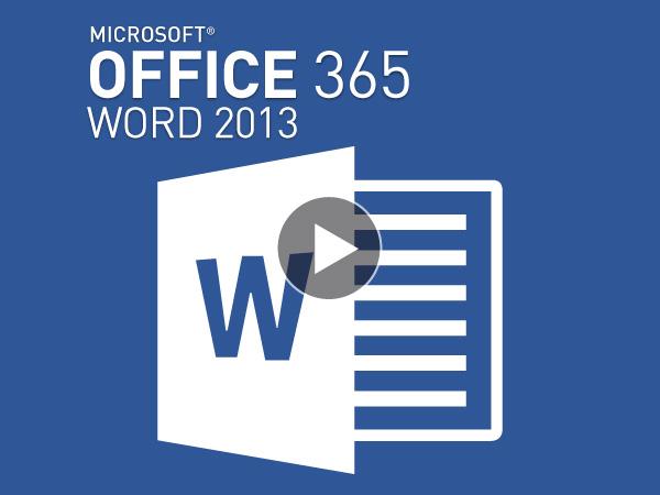Tutoriel Microsoft Office 365 : Word 2013